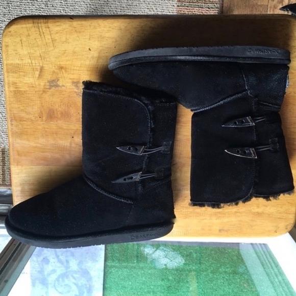 cfe8d718afa80 BearPaw Shoes | Black Suede Boots Sz 7 Genuine Bear Paw | Poshmark